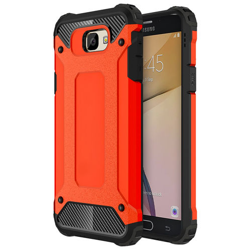 Military Defender Shockproof Case for Samsung Galaxy J7 Prime - Red